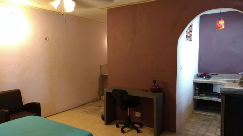 Private Studio Apt located in the hearth of Playa