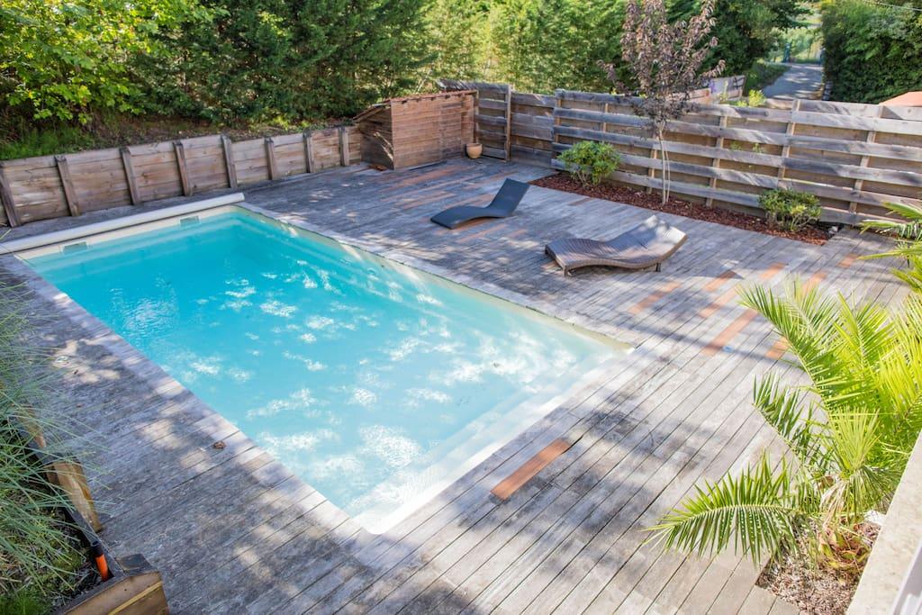 Maison avec piscine plage a pied biarritz maisons for Piscine biarritz