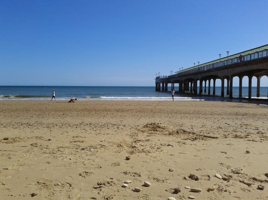 Boscombe beach is a short walk away from our house