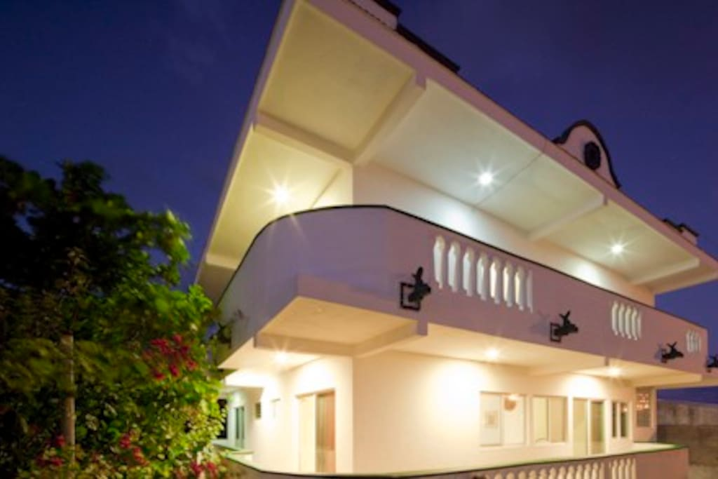 The second level balcony is a place for a breezy view or a stroll to the terraza for a siesta.