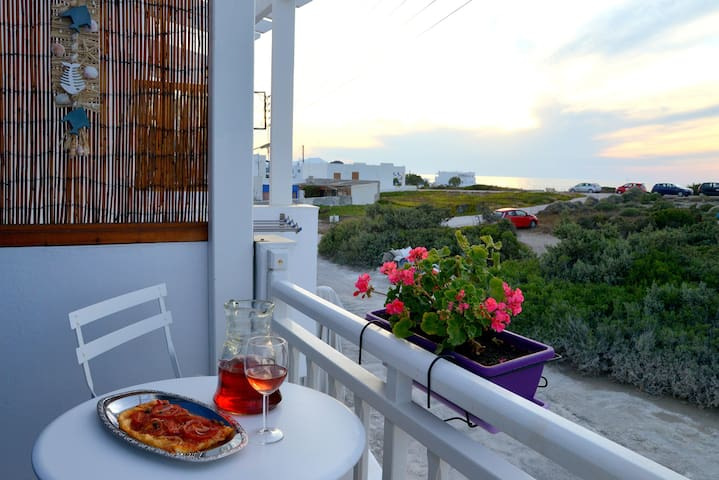 Double Room with Balcony and partial Sea View.