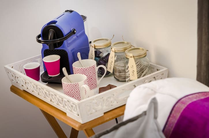 Choice of Teas and Nespresso Coffee Maker with Pods