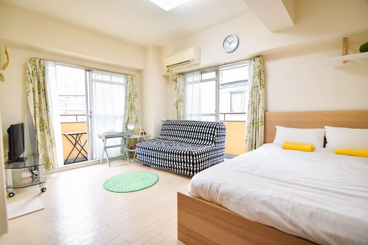 Double balcony  peaceful area Shinjuku / Free WiFi