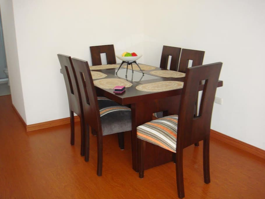 a dining area for you to enjoy meals
