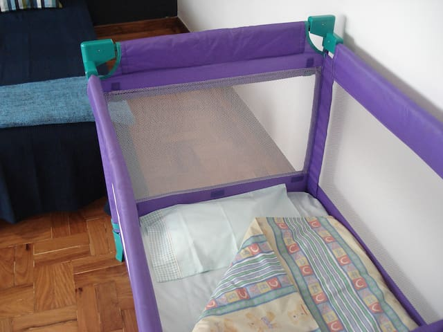Baby cot (upon request) free of charge.