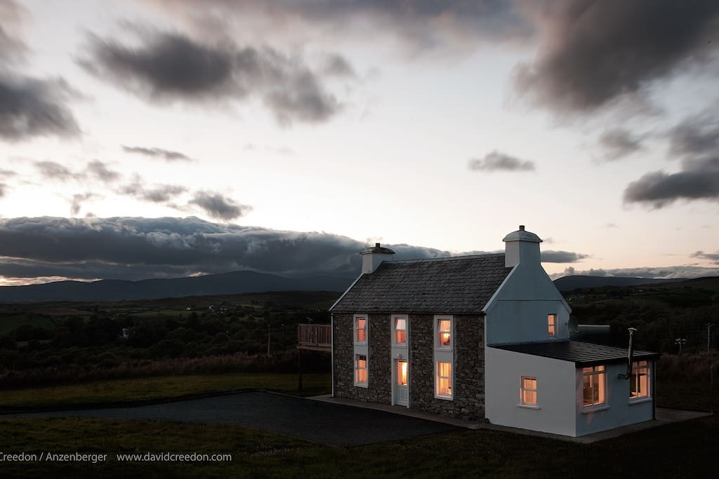The house at last light.