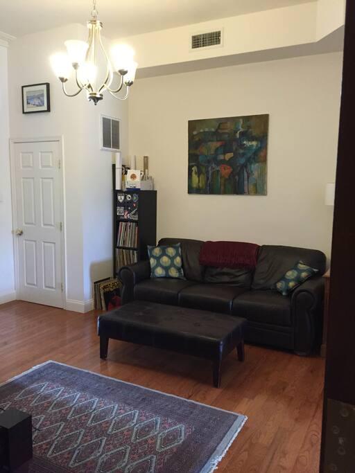 View of living room from front door.