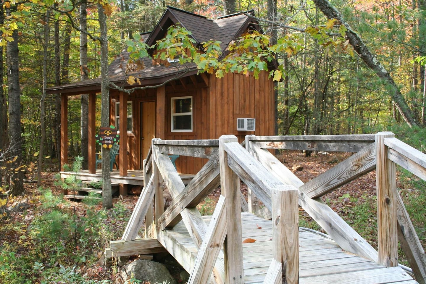 Secluded in the woods.. Adirondack tiny house.
