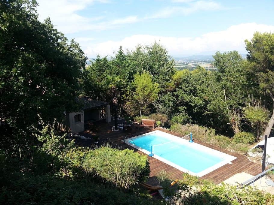 2 chambres dans villa avec piscine villas louer for Piscine 2 alpes