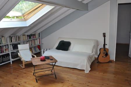 Belle chambre mansardée avec salon - Экссаневекс