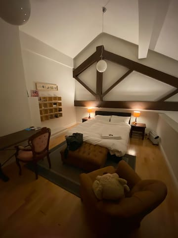 Scandinavian Duplex Double Bedroom.