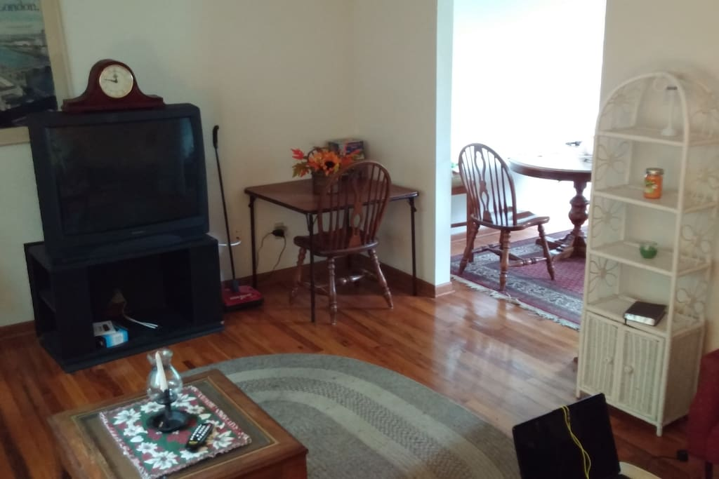 Front Living room available to all guests, includes free WiFi and cable television