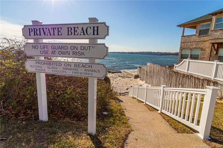 Desirable location w/direct water view, large deck