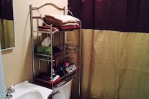 This is the new bathroom used by our guests!