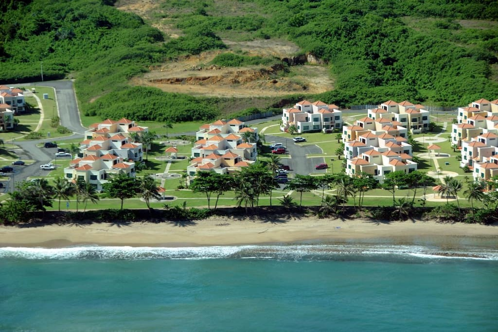 villas are walking distance to the beach