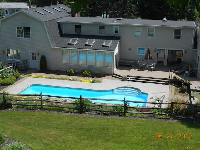 House in the country with pool