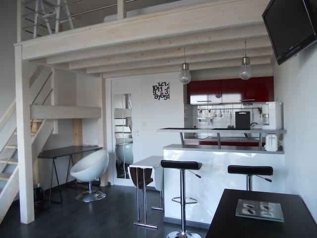 studio mezzanine  le Gabaret - La Rochelle - Appartement