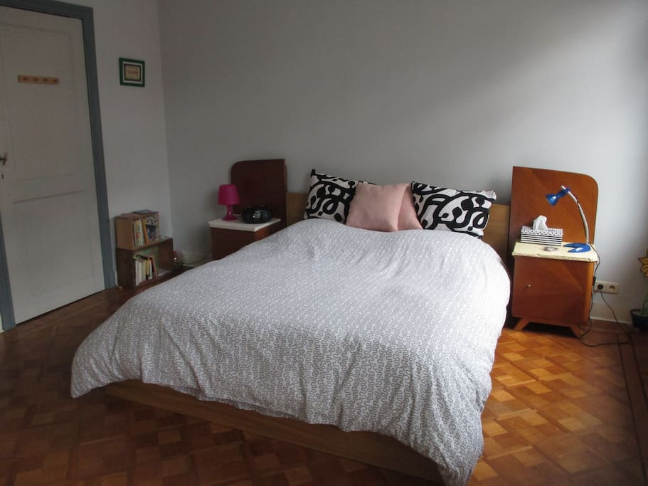 Large-sized bed in private bedroom