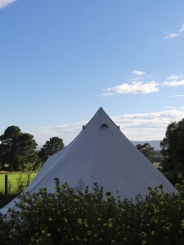 Broomfield's Bell Tent. On the NC500 route