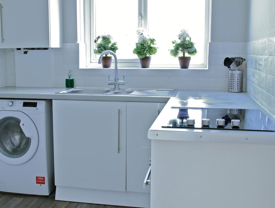 Modern and immaculate kitchen with everything you need to make a home cooked meal!