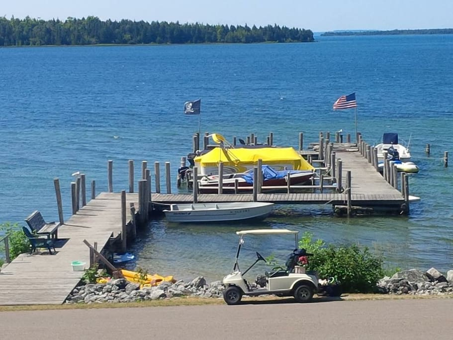 Large dock and beach area right in front of house