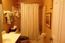 Guest Private Bathroom, we have essentials and dedicated towels just for our guest!