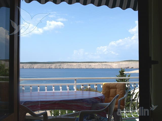 App,6+people,WIFI,A/C, seaview. - Jadranovo - Daire