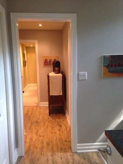Hallway to 2nd Queen Size Bedroom