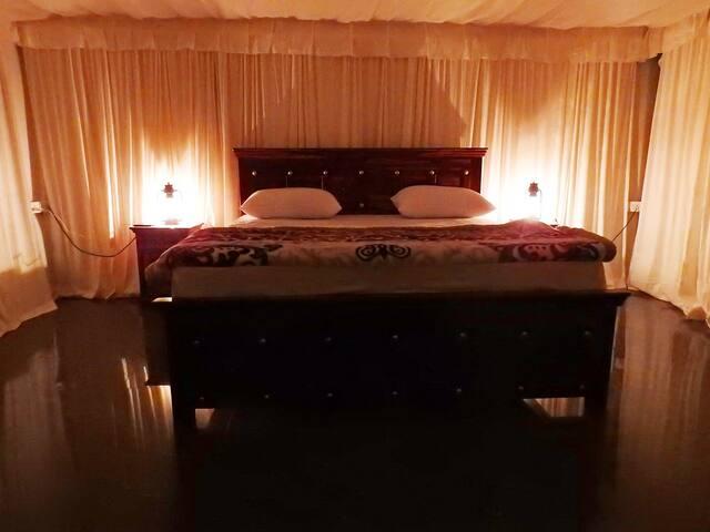 Night view of Luxury Tent