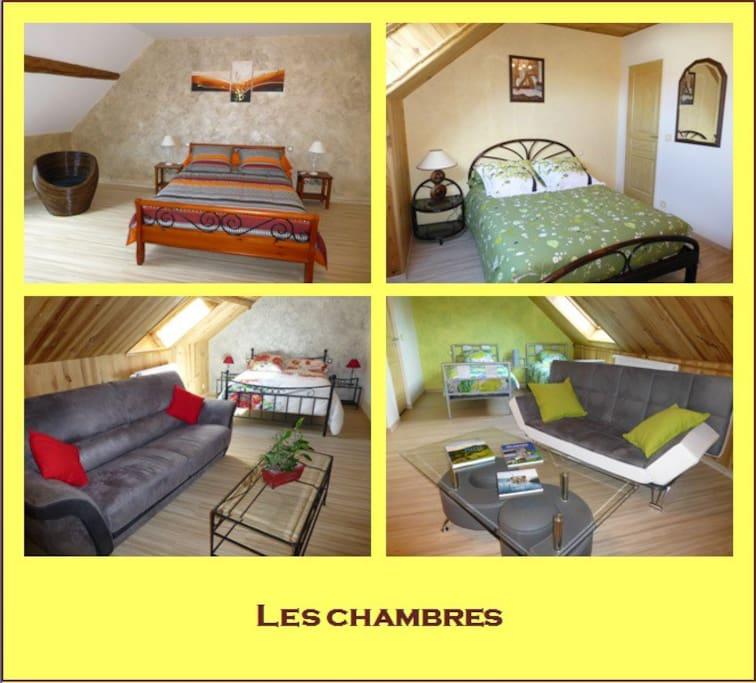 Nos 4 chambres proposées