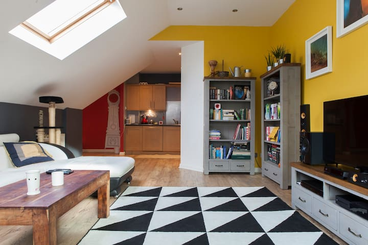En-suite double room + free parking - Эдинбург
