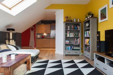 En-suite double room + free parking - Edinburgh - Apartment