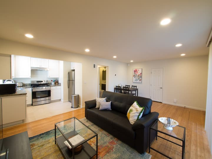 Quiet Remodeled Apartment Unit near Apple Campus