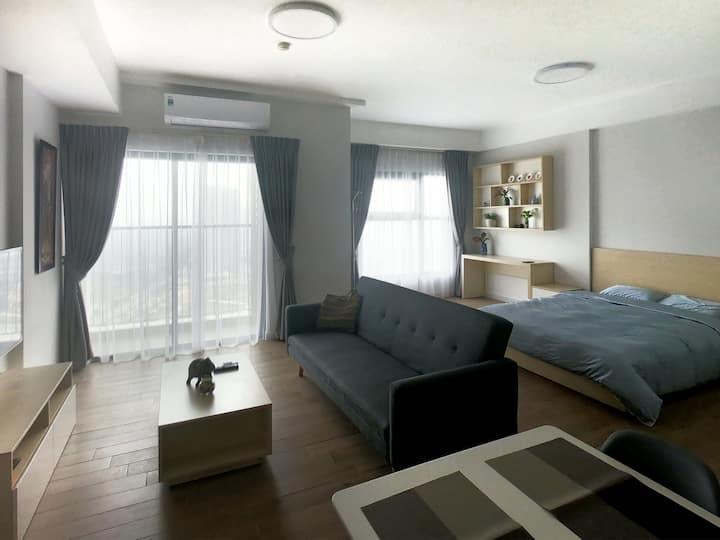 Ecopark studio apartment in Hanoi suburb