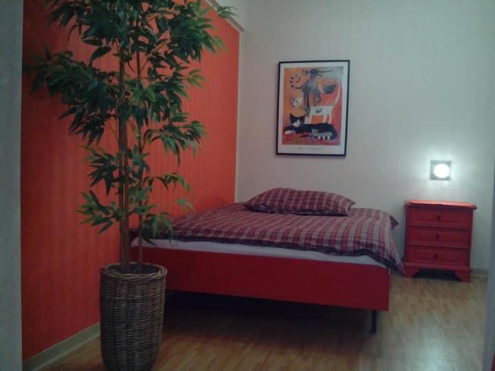 21 m² großes Zimmer mit Bad und Küche