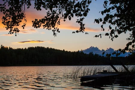 Cute cabin by the lake - Ristiina - Kulübe