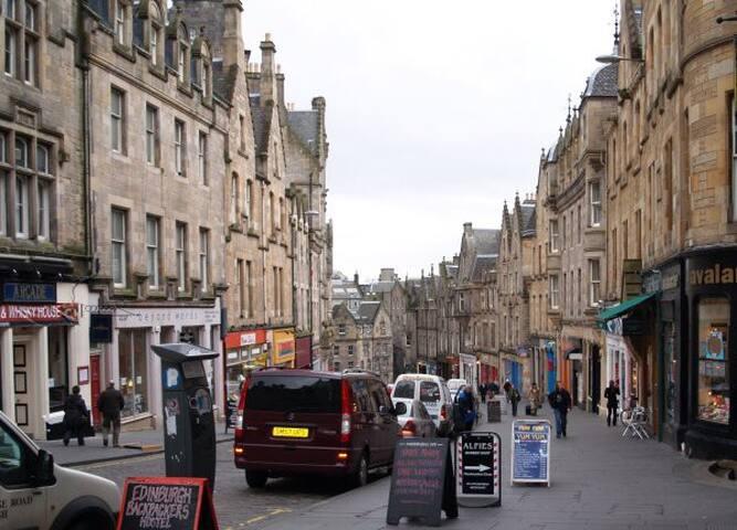 Looking down Cockburn Street