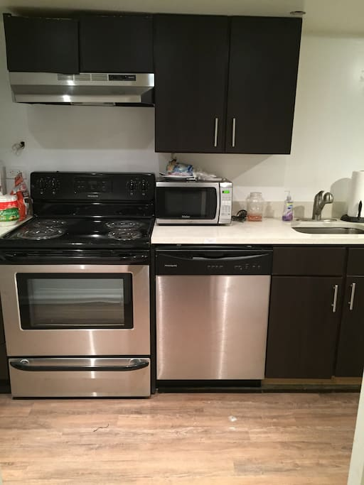 New kitchen with dish washer