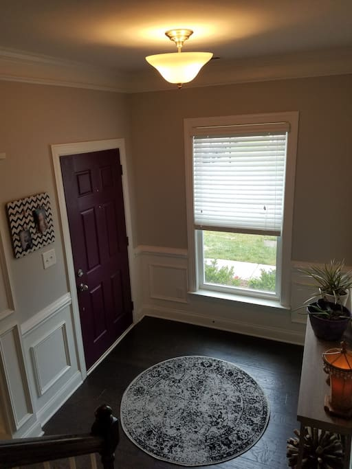 Front door and foyer of our home.