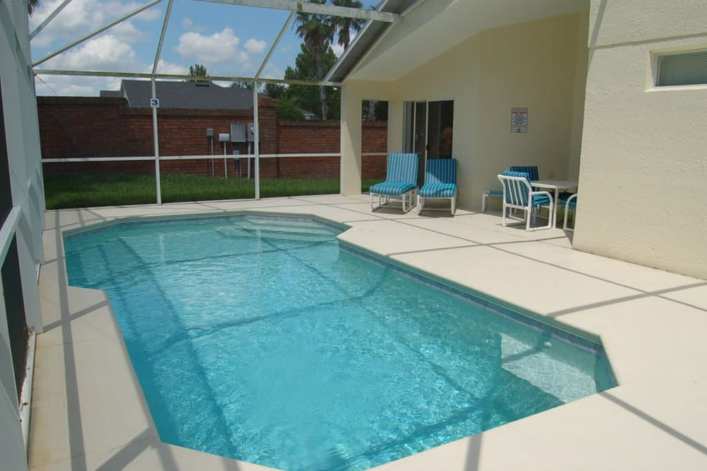 Gorgeous private pool area on secluded corner lot