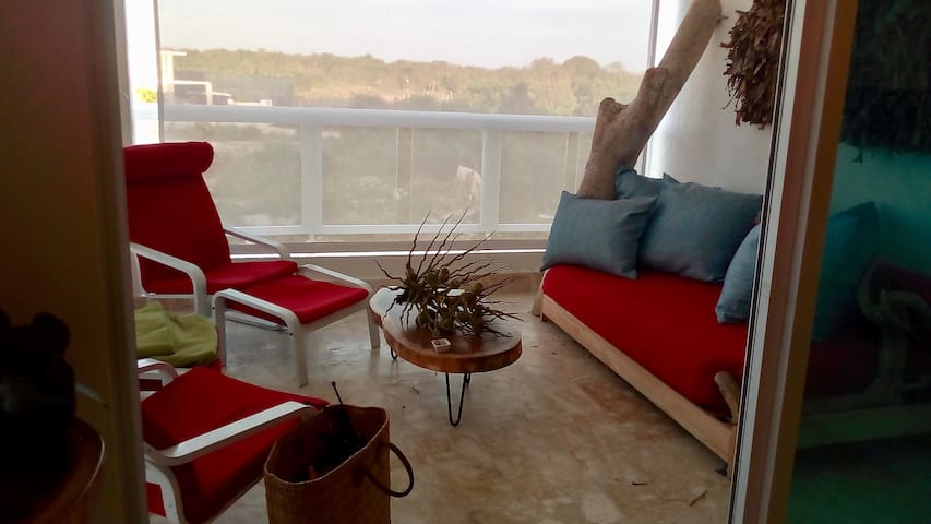 2 bedrooms, beach front Apt. Playa Nueva Romana
