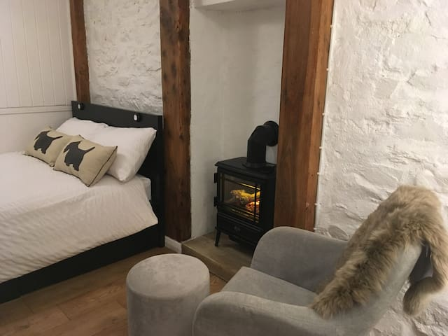 Our cosy electric fireplace