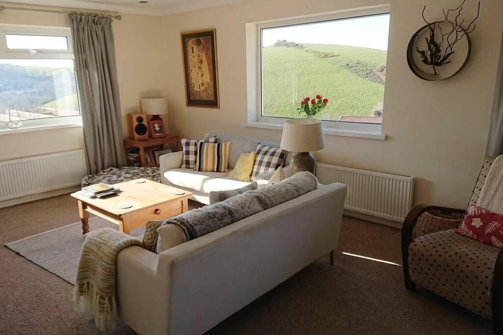 Sunny spacious lounge
