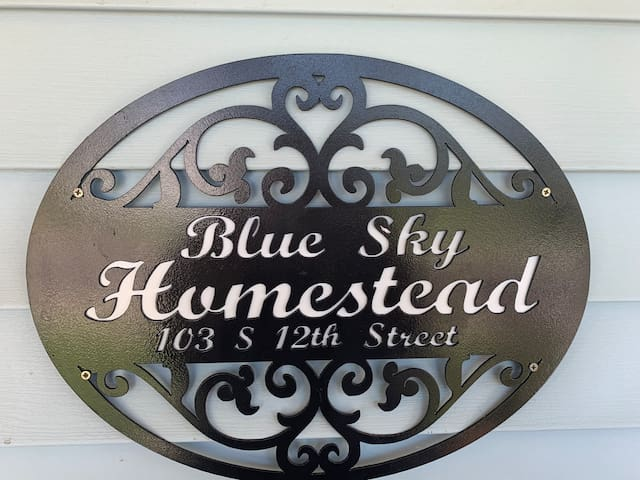 WELCOME to BLUE SKY HOMESTEAD!!  Message us if you have any questions or concerns.