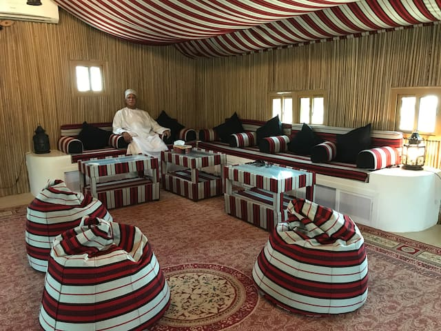 Relax in our large reception majlis