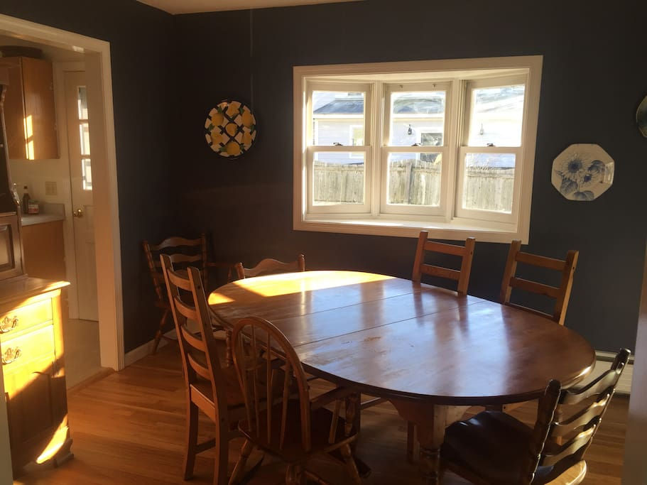 Dining Room with great afternoon light