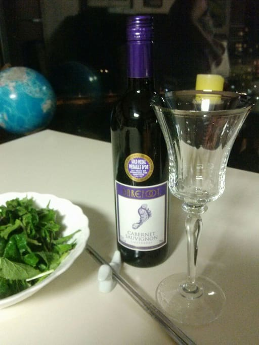 enjoy wine party at the living room