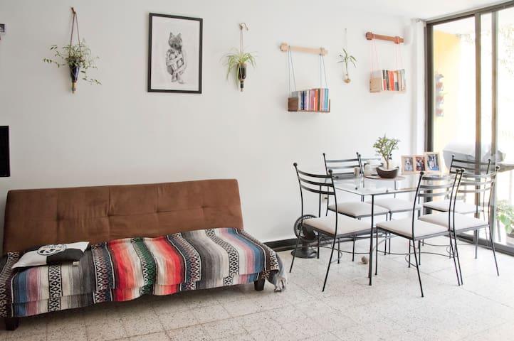 Cozy terrace apartment with hamaca. - Del Valle Norte - Appartement