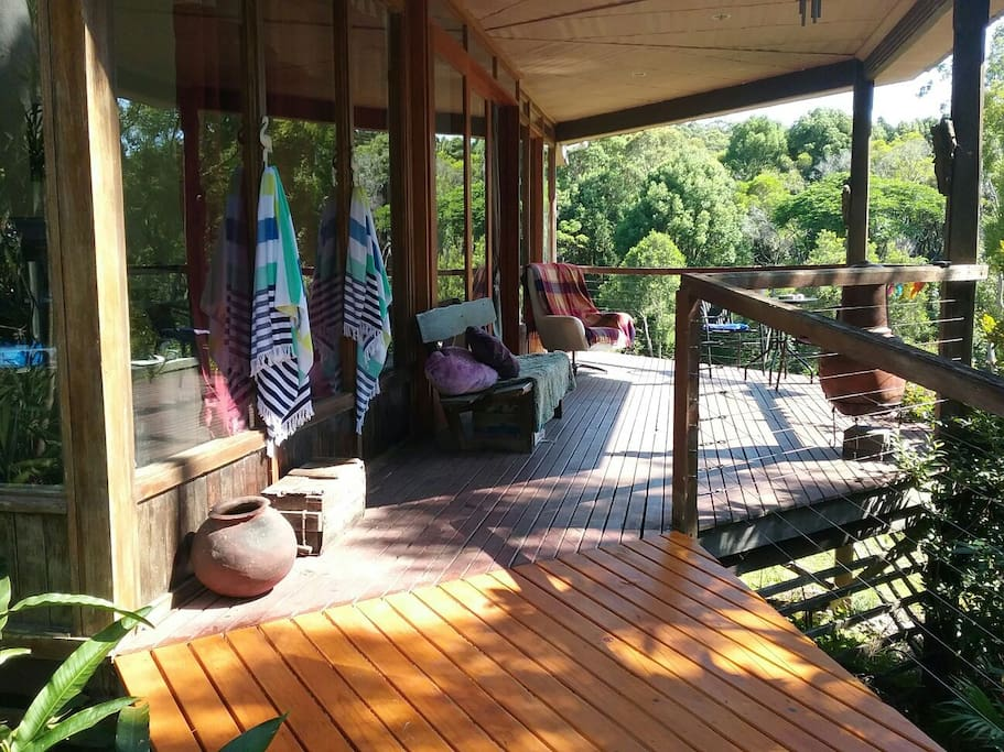 Front deck. Great place for hearing koalas.