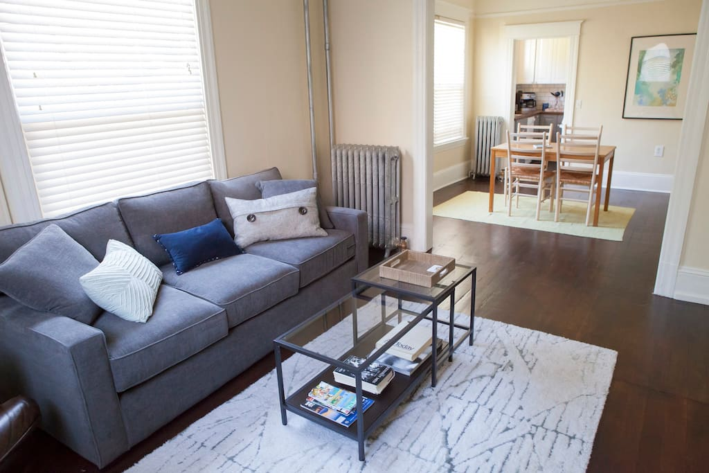 Another look at our clean, spacious, and cozy apartment.